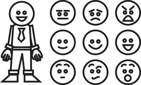 ojos tristes: Empresas y trabajadores intercambiables las expresiones faciales