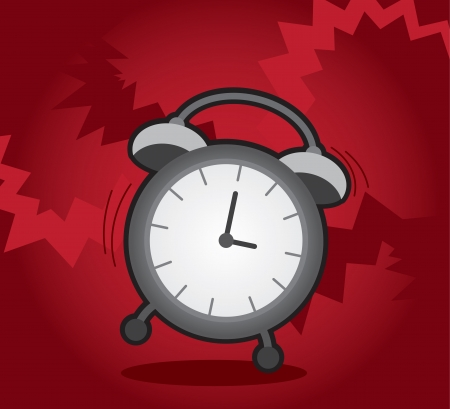 Isolated alarm clock ringing and shaking  Stock Vector - 16450132