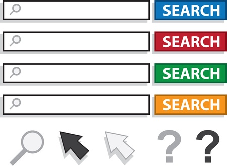 Isolated search boxes and icons  Stock Vector - 16729371