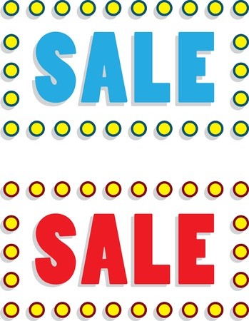 Sale text with surrounding light bulbs  Illustration