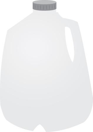 Aislado galón de leche con tapa
