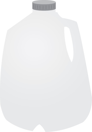 Isolated gallon of milk with cap  Stock Vector - 16913462