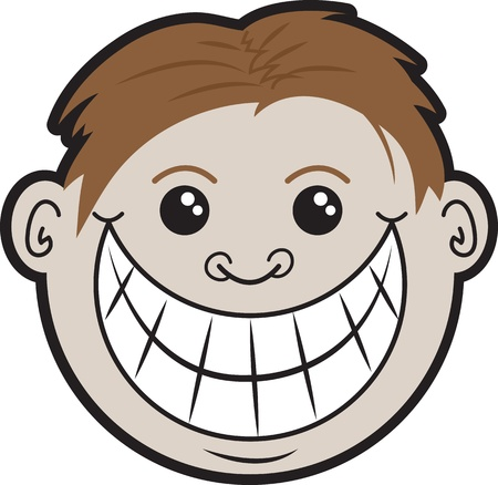 Guy s head with smiling face  Stock Vector - 20469602