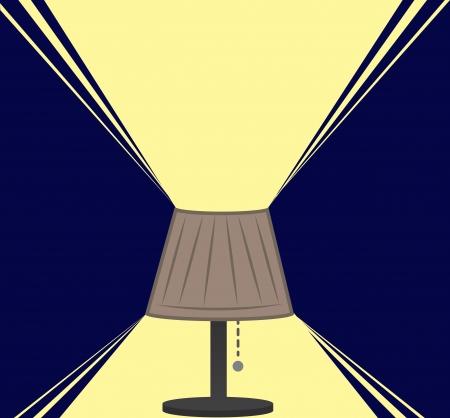 Lamp licht in het donker