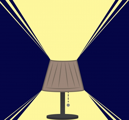 lampshade: Lamp light in the dark