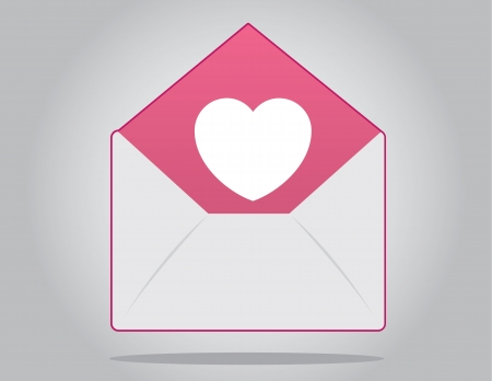 Floating envelope with heart inside Stock Vector - 17320443