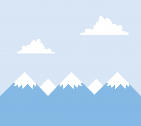 Mountain tops covered in snow  Stock Vector - 17358914
