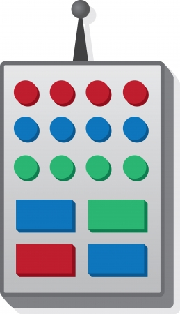 Cartoon isolated remote with large buttons  Illustration