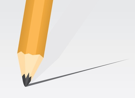back to school supplies: Pencil close up making a straight line  Illustration