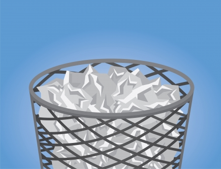 Mesh garbage filled with trash  Stock Vector - 17567169