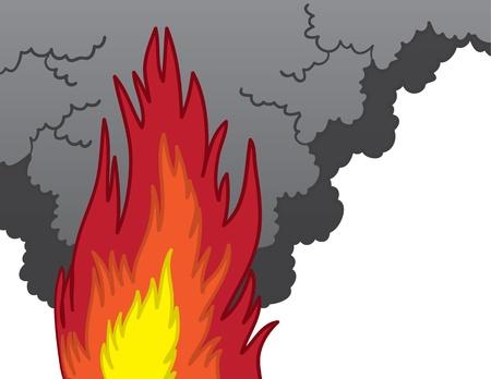 Fire and billowing smoke cartoon  Stock Vector - 17567178