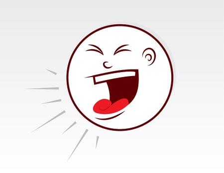 Large cartoon head yelling loudly  Vettoriali