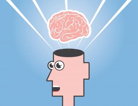 lighten: Mind blown floating above an open head