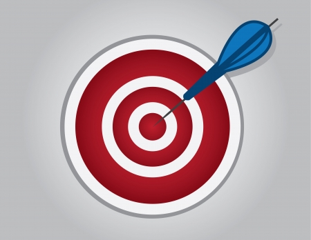 Bullseye with dart hitting the center  Stock Vector - 18282695
