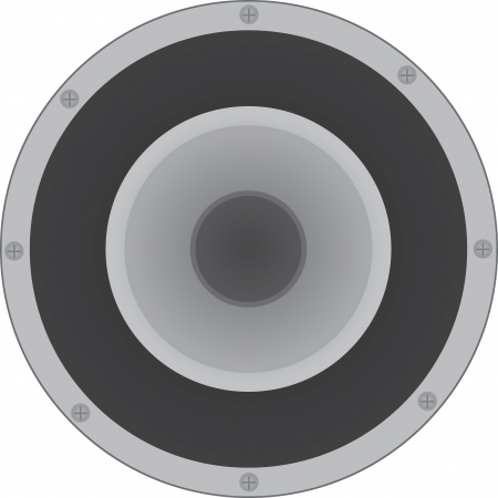 speaker icon: Large isolated round speaker icon