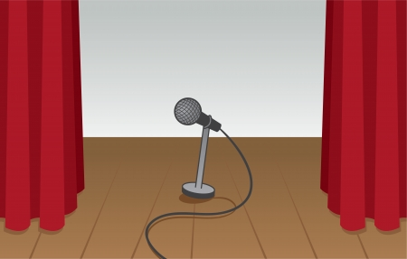 encore: Stage empty except for microphone   Illustration