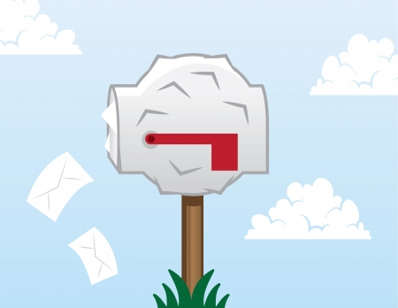 Mailbox bulging and stuffed with letters Stock Vector - 18409503