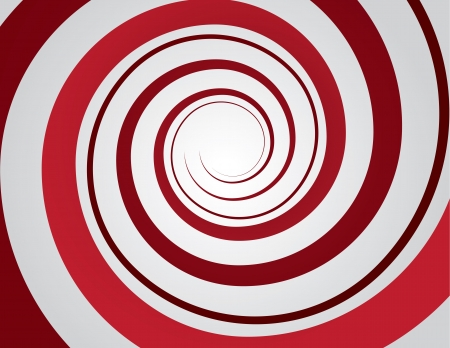 Red spiral and gray background