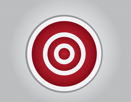 dangle: Empty red and white bullseye