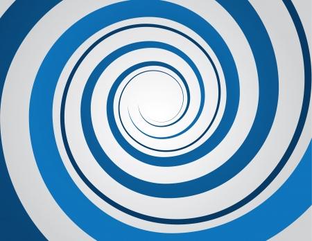 Blauwe spiraal en grijze achtergrond