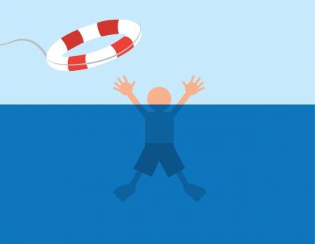 ahogarse: Persona salva después de casi ahogarse en el agua