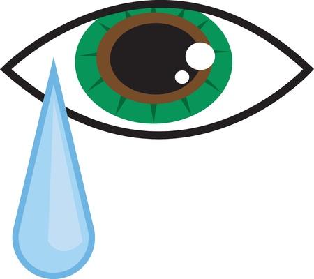 떨어지는 눈물 방울과 격리 된 눈