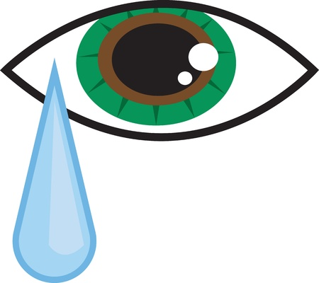 Isolated eye with falling tear drop Stock Vector - 18982966
