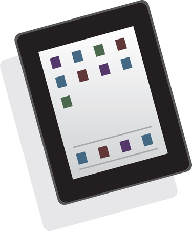 Isolated tablet or phone floating
