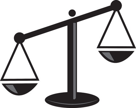litigation: Isolated scale weighted on one side