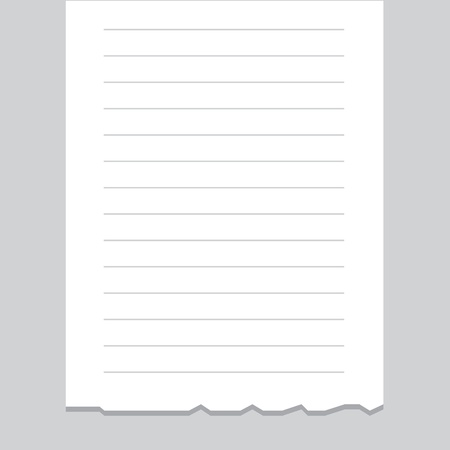 receipt: Empty receipt printout with torn bottom edge  Illustration