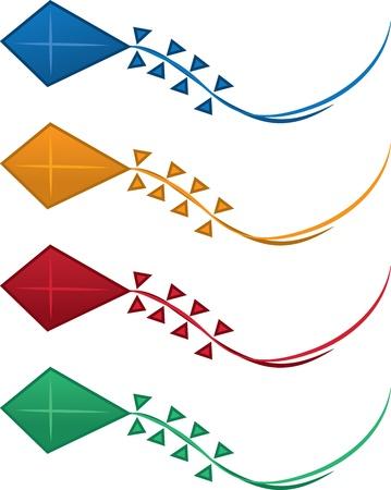 pull toy: Cometas aislados en varios colores