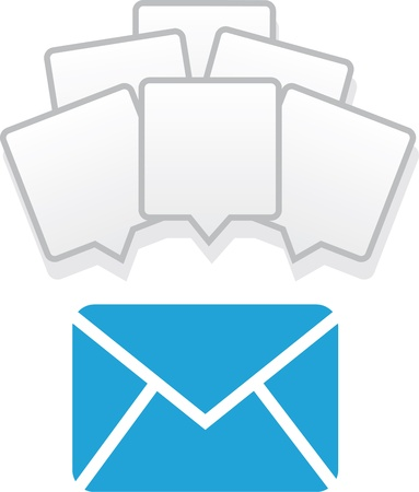Mail icon with many messages   向量圖像
