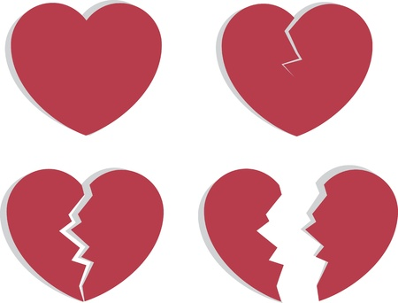 Hart splijten en breken uit elkaar