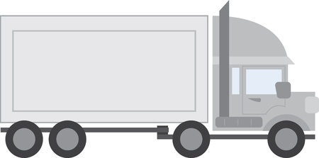 Large full truck tractor trailer  Vector