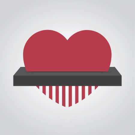 lost love: Heart fed into electronic shredder  Illustration