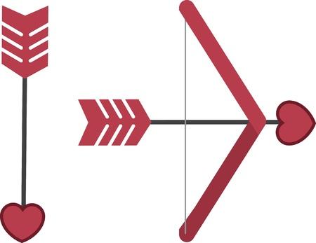 Cupid s bow and arrow isolated