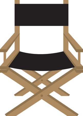 Isolated director or actor s chair