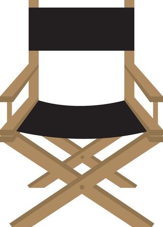 Izolowane dyrektora lub aktora s krzesło Ilustracje wektorowe