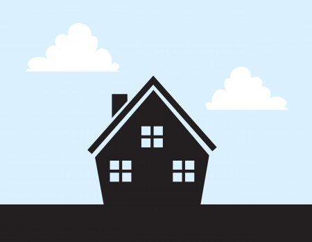 quaint: House Silhouette with cut out windows