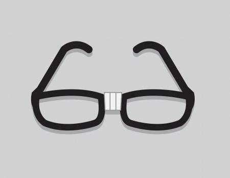 fashion bril: Nerdy bril met afgeplakte centrum