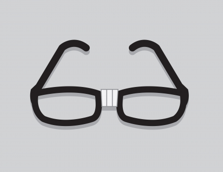 geek: Nerdy glasses with taped center