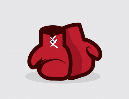 boxing ring: Boxing gloves sitting on the ground