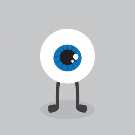 eyeball: Eyeball character with feet standing