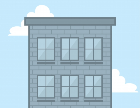 Tall building in the sky with windows  Stock Vector - 20140541