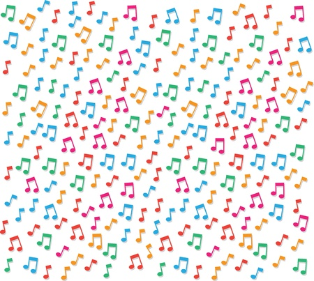 Small colorful music notes background Banco de Imagens - 20140586