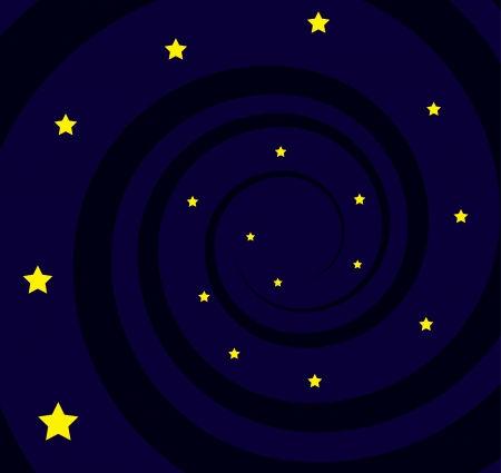 Black hole spiral with many stars