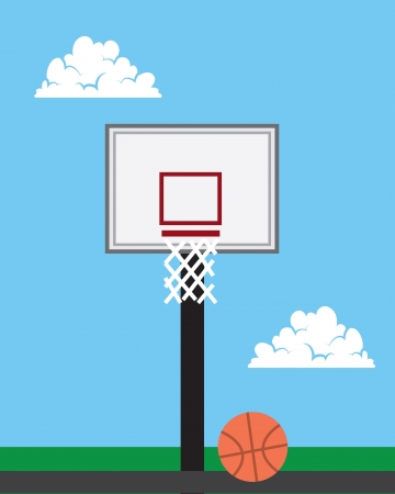 Basketball hoop outside with sky background Stock fotó - 20140615