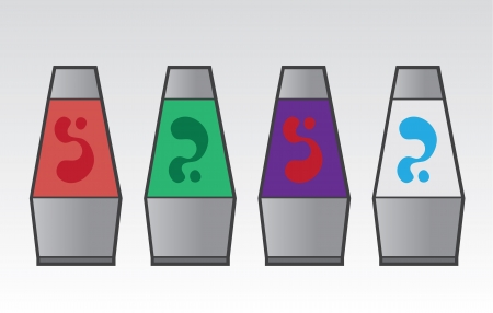 Lava lamps in different colors  Vector