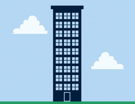 Tall apartment building with blue sky  Stock Vector - 20476361