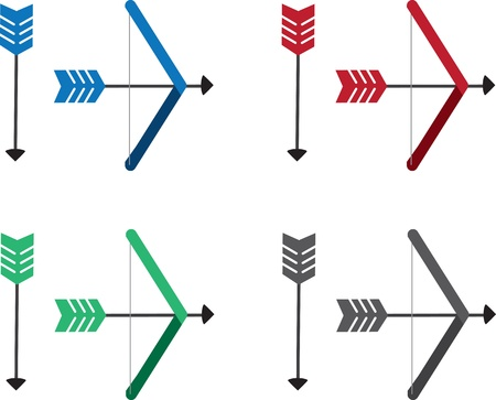 Different colored arrows and bows  Vector
